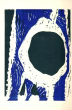 Ann Rahimi-Assa - Untitled (Navy blue and Black) - 1980 - SIGNED