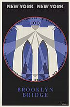 Robert Indiana - Brooklyn Bridge Centennial - 1983