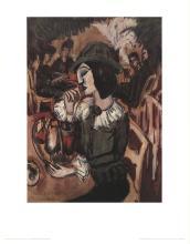Ernst-Ludwig Kirchner - Green Lady At Garden Cafe