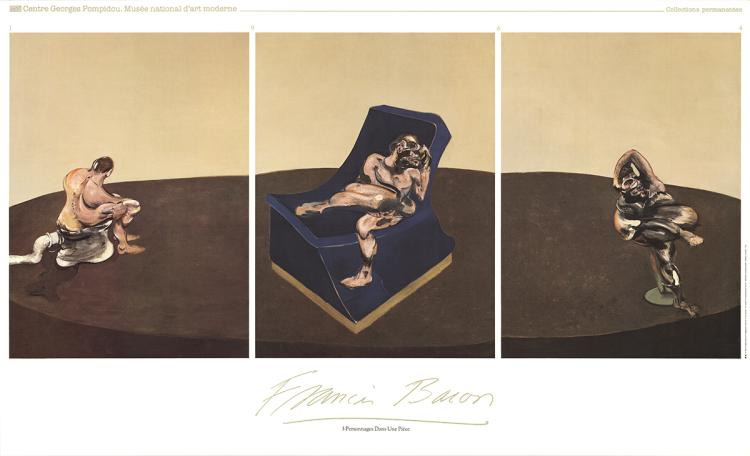 Francis Bacon - 3 Characters In One Piece - 1987