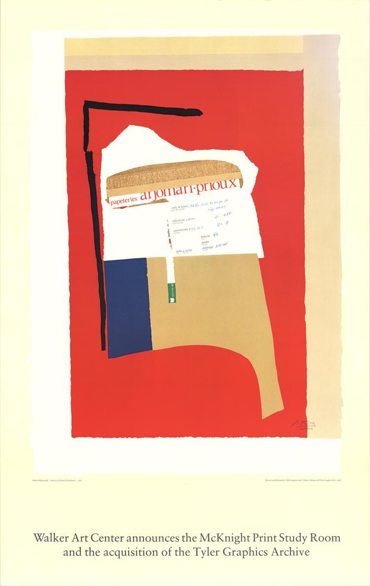 Robert Motherwell - America - La France Variations I - 1984