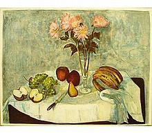Signed Forissier Fruit De La Table Lithograph