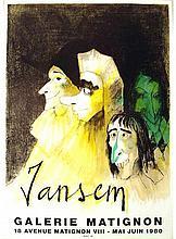 1980 Jansem Trois Masques Lithograph