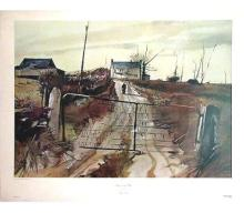 1970 Wyeth Chester County Farm Collotype