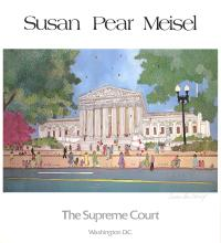 Signed 1980 Meisel The Supreme Court Offset Lithograph