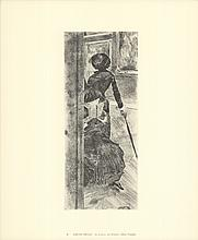 1974 Degas Au Louvre: La Peinture (Mary Cassatt) Lithograph
