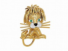 A Diamond and Gold Lion Brooch, Van Cleef & Arpels