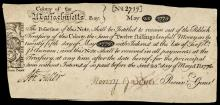Colonial Currency, Massachusetts May 25, 1775. 12 Shillings PAUL REVERE Engraved