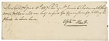 1817 EPHRAIM HART, Jewish American Merchant, Document Signed