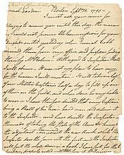WILLIAM DONNISON, 1790 Signed Letter to Major General Goodwin
