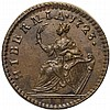1723 Woods Hibernia Farthing. DEI GRATIA. REX Choice Uncirculated