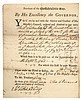 FRANCIS BERNARD, British Colonial Governor of MA. Payment Document Signed 1764