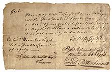 1776 DAVID RITTENHOUSE + GEORGE ROSS Council of Safety Document Signed