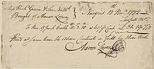 Aaron Lopez 1772 Manuscript Document Signed, Rev War Era Jewish Merchant
