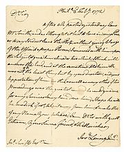 1772, JOSHUA LORING Jr, Letter Signed Contemptible Boston Tory British Loyalist