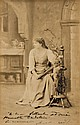 SARAH BERNHARDT, Huge Panel Signed Photograph Card The Divine Sarah.