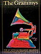Pop Artist PETER MAX, Signed 1989 Grammy Awards Poster