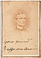 Confederate President JEFFERSON DAVIS Signed + Inscribed CDV Photograph