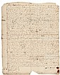 1762 LEWIS MORRIS, Signer: Declaration of Independence, Signed Manuscript Deed