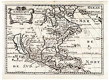 1682 Map of North America by Nicolas Sanson d'Abbeville, California as an Island