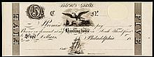 Philadelphia, PA. Stephen Girards Banking House. India Paper Proof on Card