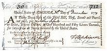 Signer FRANCIS HOPKINSON + WILLIAM BINGHAM, Plus JOHN BENEZET
