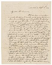 1844 First Lady ANNA HARRISON Autograph Letter Signed Wife of President Harrison