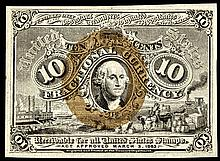 Civil War Fractional Currency, FR-1244 2nd Issue 10¢ Washington