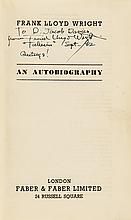 Inscribed and Signed - Frank Lloyd Wright: An Autobiography Book, Very Fine