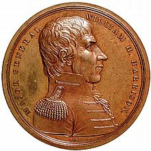 Gem 1818 Major General William Henry Harrison Medal MI-14 Bronzed Copper