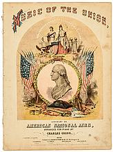 1861-Dated Civil War Historic Printed Sheet Music Titled, Music of the Union