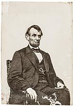 1864 President Abraham Lincoln Photograph by Anthony Berger of Brady's Gallery