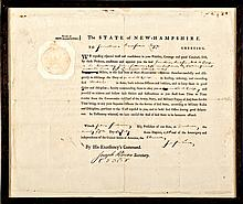 Rev War Major General John Sullivan Signed Historic N.H. Military Commission
