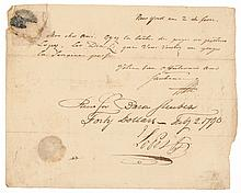 Major General BARON VON STEUBEN Autograph Letter Signed February 2, 1790 Rare