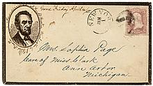 1865 Lincoln Cover - Assassinated at Ford's Theater Washington by J Wilkes Booth