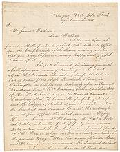 Author THOMAS L. McKENNEY 1848 Autograph Letter Signedto Dolley Madison