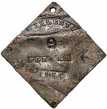 1856 Charleston SC PORTER Slave Hire Identiciation Tag, Copper. License number 9