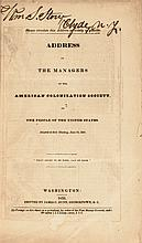 1832 American Colonization Society Address to the People of the United States