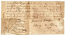 1755 Bill of Sale for a Negro Servant Boy Signed by BENJAMIN LINCOLN