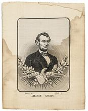 c. 1876 Abraham Lincoln Woven Silk Portrait as seen in THREADS as No 406