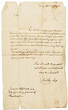 1780 Letter Signed By U.S. Attorney General CHARLES LEE