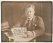 1907 THEODORE ROOSEVELT Signed Mammoth Size Photograph as President