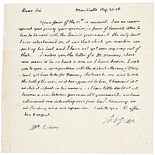 THOMAS JEFFERSON 1808 Autograph Letter Signed as President to Caesar A. Rodney