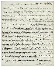 GOUVERNEUR MORRIS 1813-Dated Autograph Letter Signed