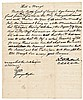 Autograph Document Signed GEORGE WYTHE Signer of the Declaration of Independence