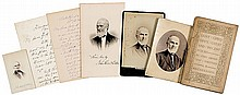 JOHN GREENLEAF WHITTIER, Two Autograph Letters Signed, Poet/Abolitionist Archive