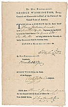GEORGE WASHINGTON Signed American Army Discharge Awarding the BADGE OF MERIT