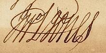 JOHN PAUL JONES Autograph Clipped Signature