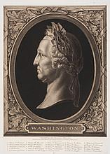 1902 Max Rosenthal Plate Proof Engraving of a Laureated George Washington