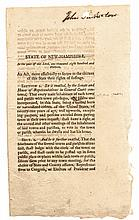 1813 New Hampshire official Printed Document Act for A Citizens Right to Vote